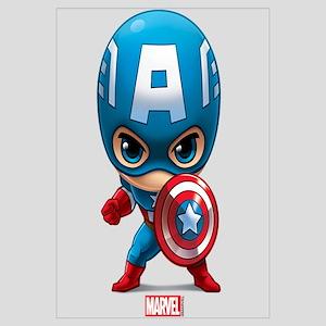 Chibi Captain America Stylized Wall Art