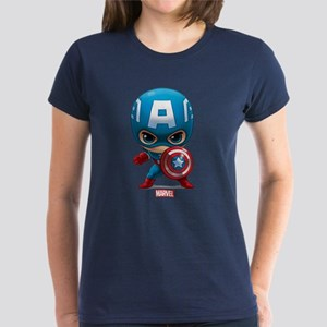 Chibi Captain America Stylize Women's Dark T-Shirt