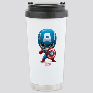 Chibi Captain America S Stainless Steel Travel Mug