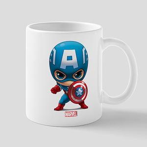 Chibi Captain America Stylized Mug