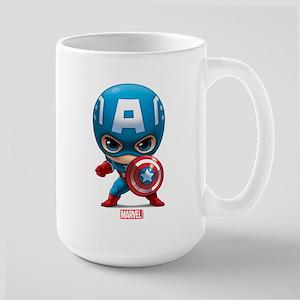 Chibi Captain America Stylized Large Mug