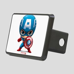 Chibi Captain America Styl Rectangular Hitch Cover