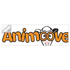 Animooves Yoga Logo white Wall Decal