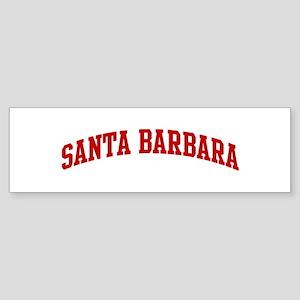 SANTA BARBARA (red) Bumper Sticker