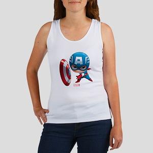 Chibi Captain America Stylized Women's Tank Top