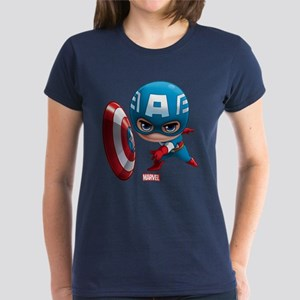 Chibi Captain America Stylize Women's Dark T-Shirt
