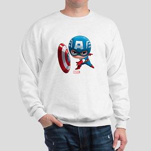 Chibi Captain America Stylized Sweatshirt