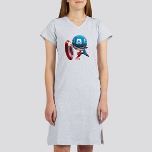 Chibi Captain America Stylized Women's Nightshirt