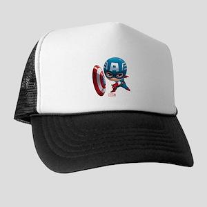 Chibi Captain America Stylized Trucker Hat