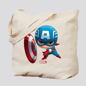 Chibi Captain America Stylized Tote Bag
