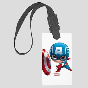 Chibi Captain America Stylized Large Luggage Tag