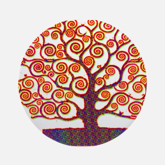 Tree of Life Psychedelic Ornament (Round)