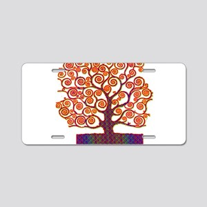 Tree of Life Psychedelic Aluminum License Plate