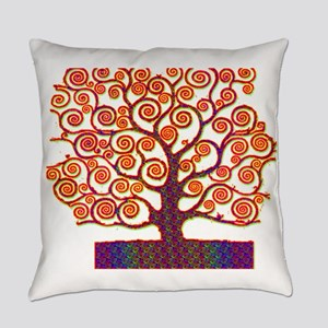 Tree of Life Psychedelic Everyday Pillow