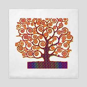 Tree of Life Psychedelic Queen Duvet