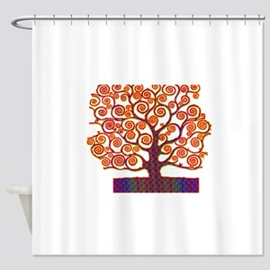 Tree of Life Psychedelic Shower Curtain