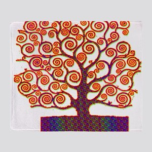 Tree of Life Psychedelic Throw Blanket