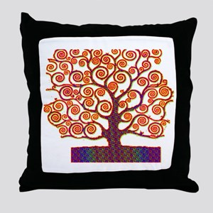 Tree of Life Psychedelic Throw Pillow
