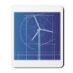 Wind Energy Turbine Mousepad