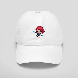 Chibi Black Widow Stylized 2 Cap