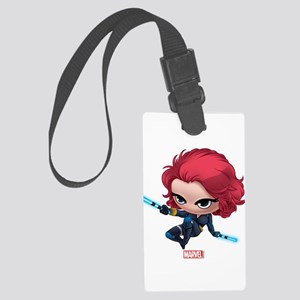 Chibi Black Widow Stylized 2 Large Luggage Tag