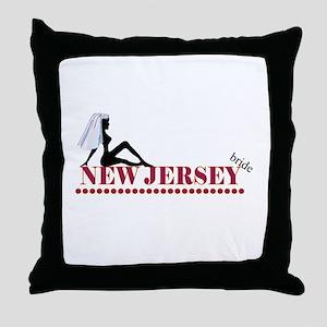 New Jersey Bride Throw Pillow