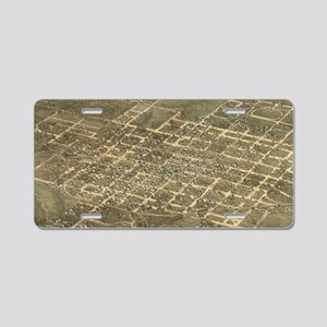 Vintage Pictorial Map of Ra Aluminum License Plate