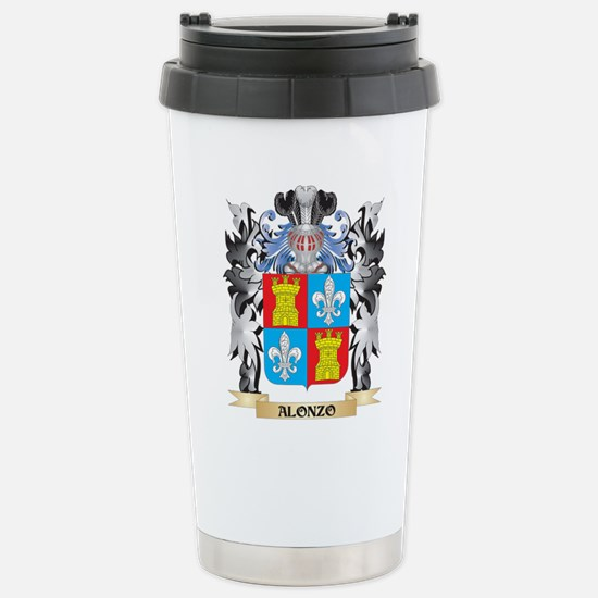 Alonzo Coat of Arms - F Stainless Steel Travel Mug
