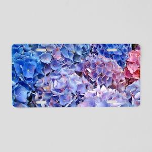 Blue Hydrangeas Flowers Aluminum License Plate