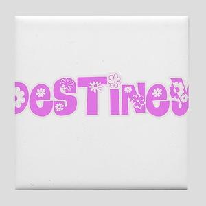 Destiney Flower Design Tile Coaster