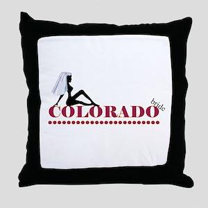 Colorado Bride Throw Pillow