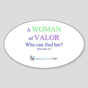 Woman of Valor Sticker (Oval)