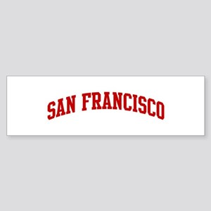SAN FRANCISCO (red) Bumper Sticker