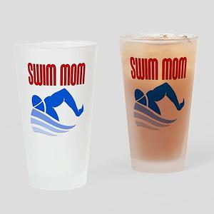 Swim Mom Drinking Glass