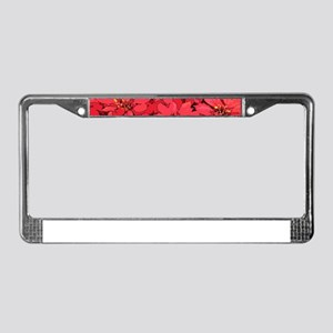 Poinsettia License Plate Frame