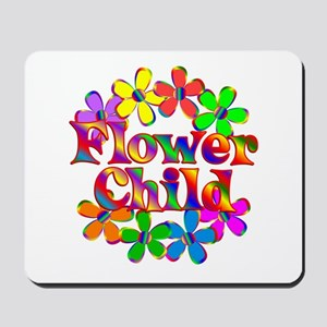 Retro Flower Child Mousepad
