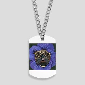 Pug Pansy Dog Art Dog Tags