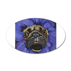 Pug Pansy Dog Art Decal Wall Sticker