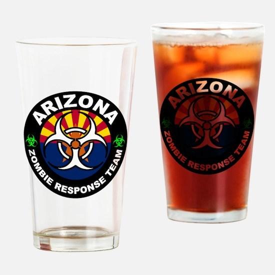 Arizona Zombie Response Team White Drinking Glass