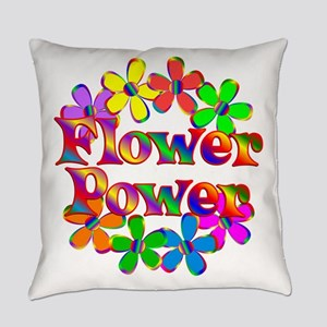Retro Flower Power Everyday Pillow