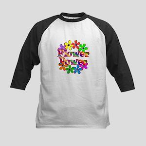 Retro Flower Power Kids Baseball Jersey