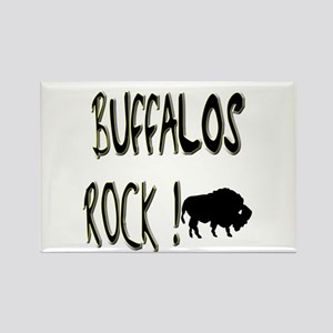 Buffalos Rock ! Rectangle Magnet