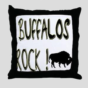 Buffalos Rock ! Throw Pillow