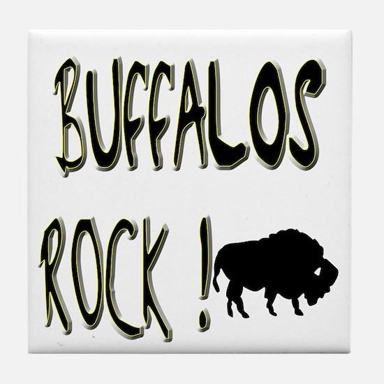 Buffalos Rock ! Tile Coaster
