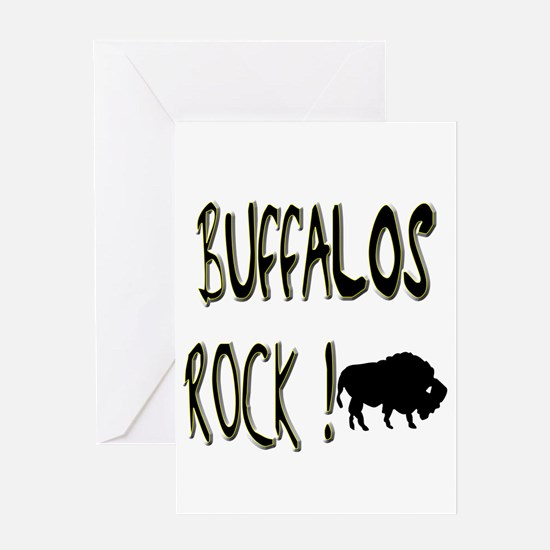 Buffalos Rock ! Greeting Card