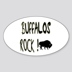 Buffalos Rock ! Oval Sticker