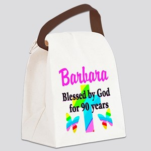 90 YR OLD BLESSING Canvas Lunch Bag