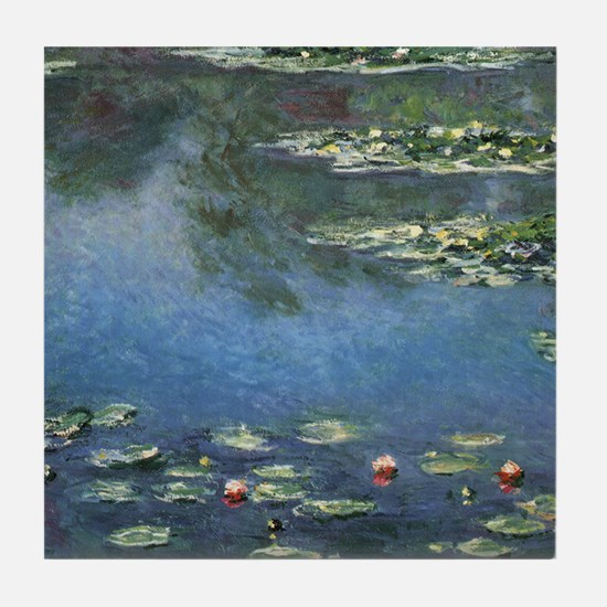 Waterlilies by Claude Monet Tile Coaster