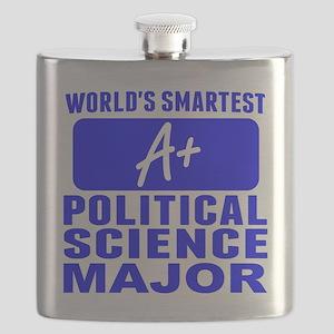 Worlds Smartest Political Science Major Flask