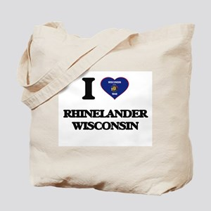 I love Rhinelander Wisconsin Tote Bag